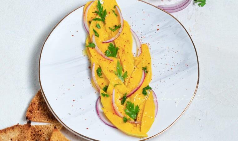 Caribbean style mango Carpaccio | tchakayiti.com
